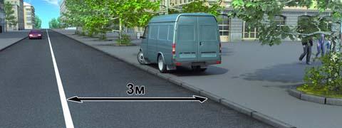 Нарушил ли водитель грузового автомобиля с разрешенной максимальной массой не более 3,5 т правила стоянки в данной ситуации?