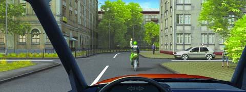 Такой сигнал рукой, подаваемый мотоциклистом, информирует Вас: