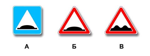 Какой знак используется для обозначения границ искусственной неровности?