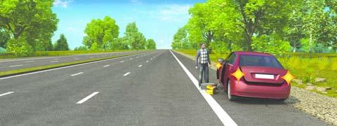 Нарушил ли водитель Правила при вынужденной остановке на автомагистрали?
