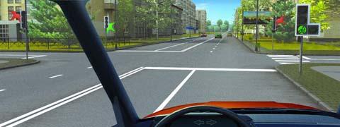 О чем информируют Вас стрелки на зеленом сигнале светофора?