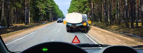 Должны ли Вы уступить дорогу встречному автомобилю?