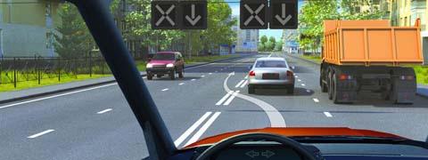 Разрешен ли Вам такой маневр при выключенных реверсивных светофорах?