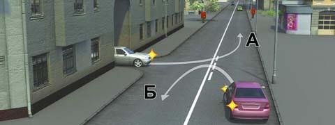 Водитель какого автомобиля не нарушает Правила?