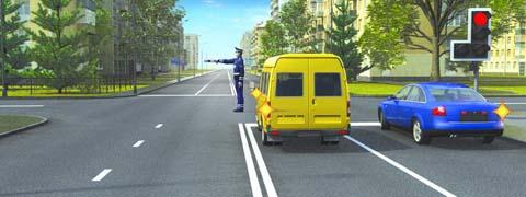 Кто из водителей может продолжить движение?