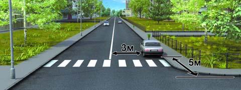 Разрешено ли водителю поставить автомобиль на стоянку в указанном месте?