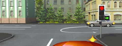 Вы намерены повернуть направо. Следует ли уступить дорогу автомобилю, выполняющему разворот?