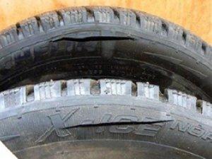 боковой порез колеса